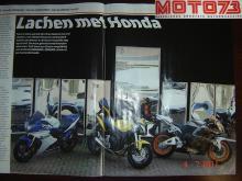 Die Zerrspiegelzentrale arbeitete gerne mit dem Motorradmagazin Moto 73 zusammen, um einen Artikel über Honda 600-Motoren zu veröffentlichen, die für unsere Schmunzelspiegel fotografiert wurden.