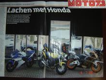 Lachspiegelcentrale verleende graag haar medewerking aan motorblad Moto 73 voor een artikel over Honda 600 motoren die gefotografeerd werden voor onze lachspiegels.